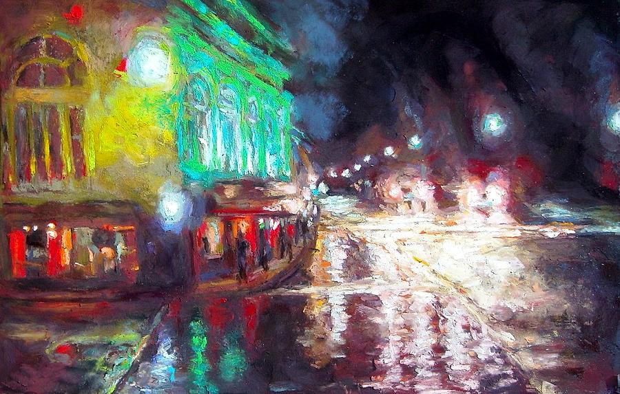 Turnering On The Charleston Lights Painting by Cameron Hampton P S A