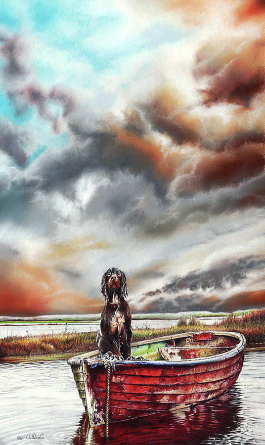 Dog Drawing - Turners Dog by Peter Williams