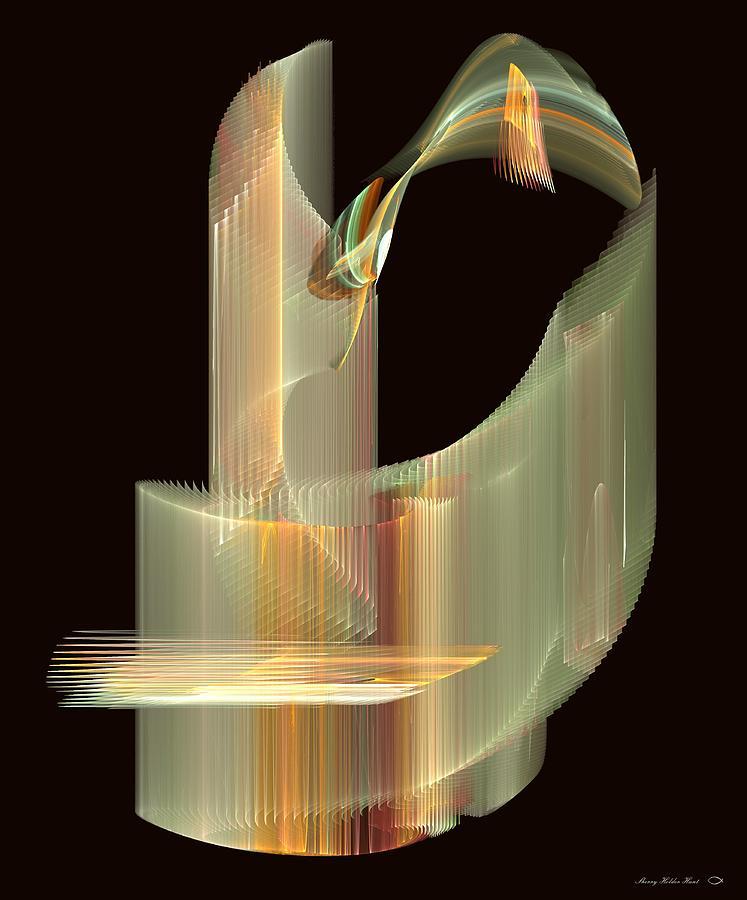 Light Digital Art - Turning Light by Sherry Holder Hunt