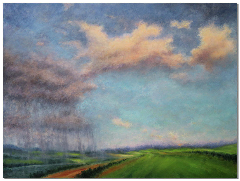 Clouds Painting - Turning Point by Liron Sissman