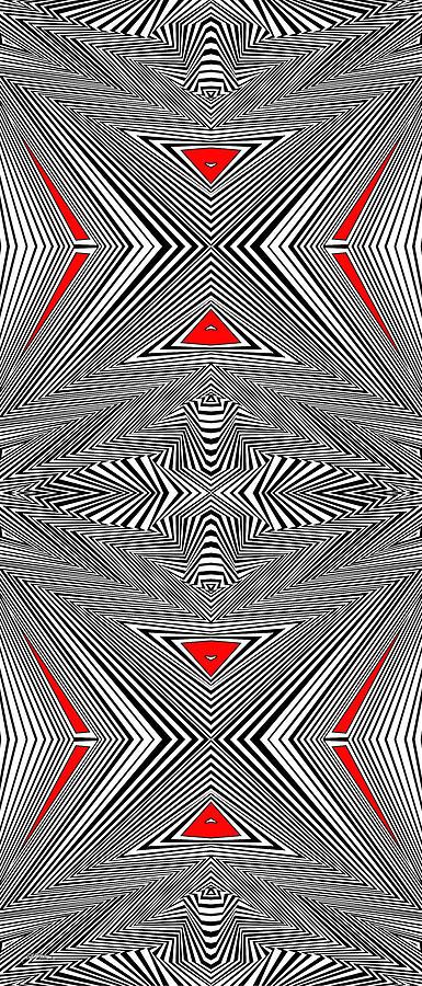 Optical Illusion Painting - Turning The Turmoil by Douglas Christian Larsen