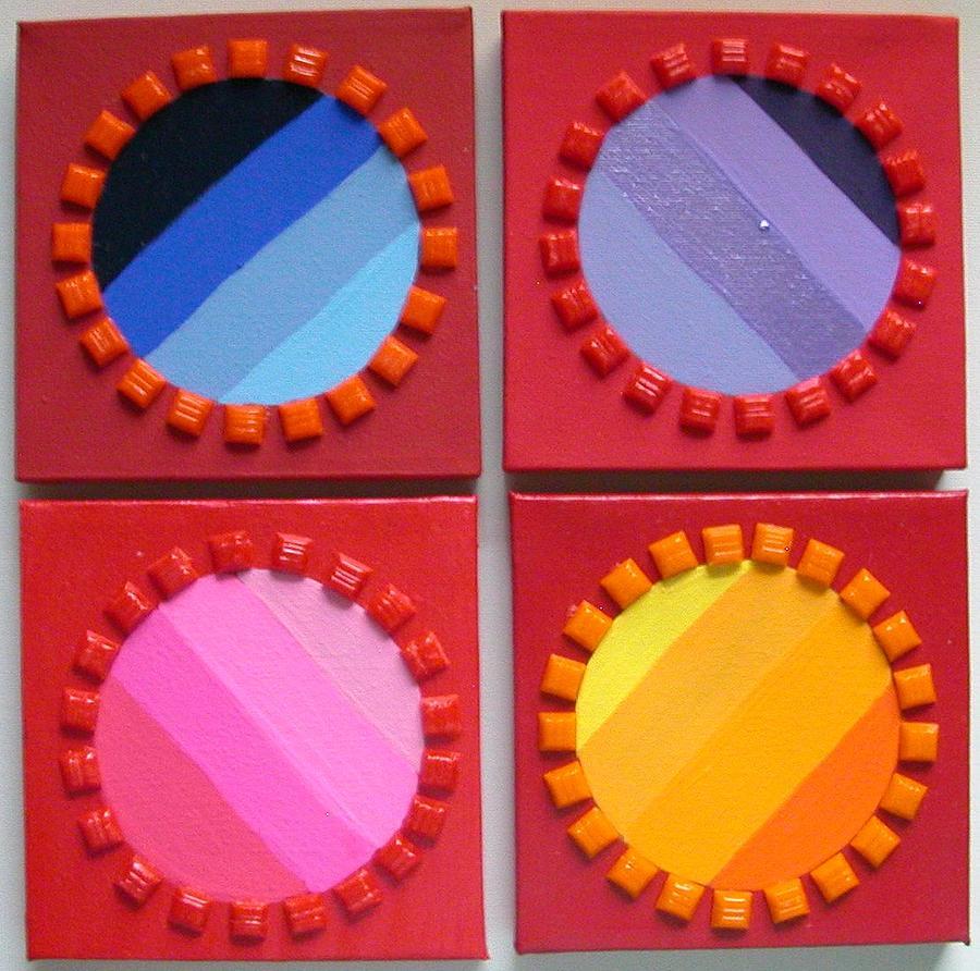 Circles Painting - Turnstiles by Gay Dallek