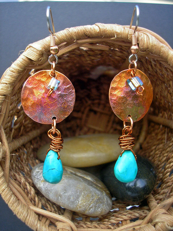 Copper Jewelry - Turquoise Dream by Angie DElia