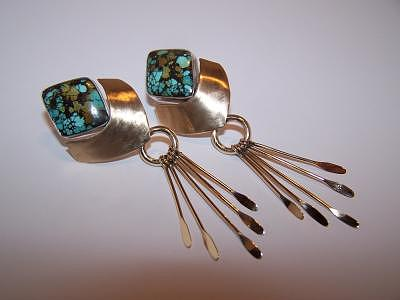 Turquoise Earrings Jewelry by Kimberly Stephenson