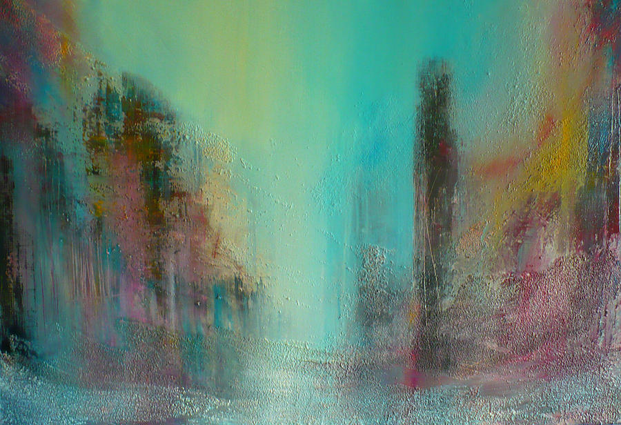 Turquoise Painting - Turquoise Evening by Denise Cloutier