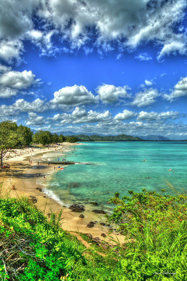 Turquoise Green Kailua Beach Park Oahu Hawaii Art