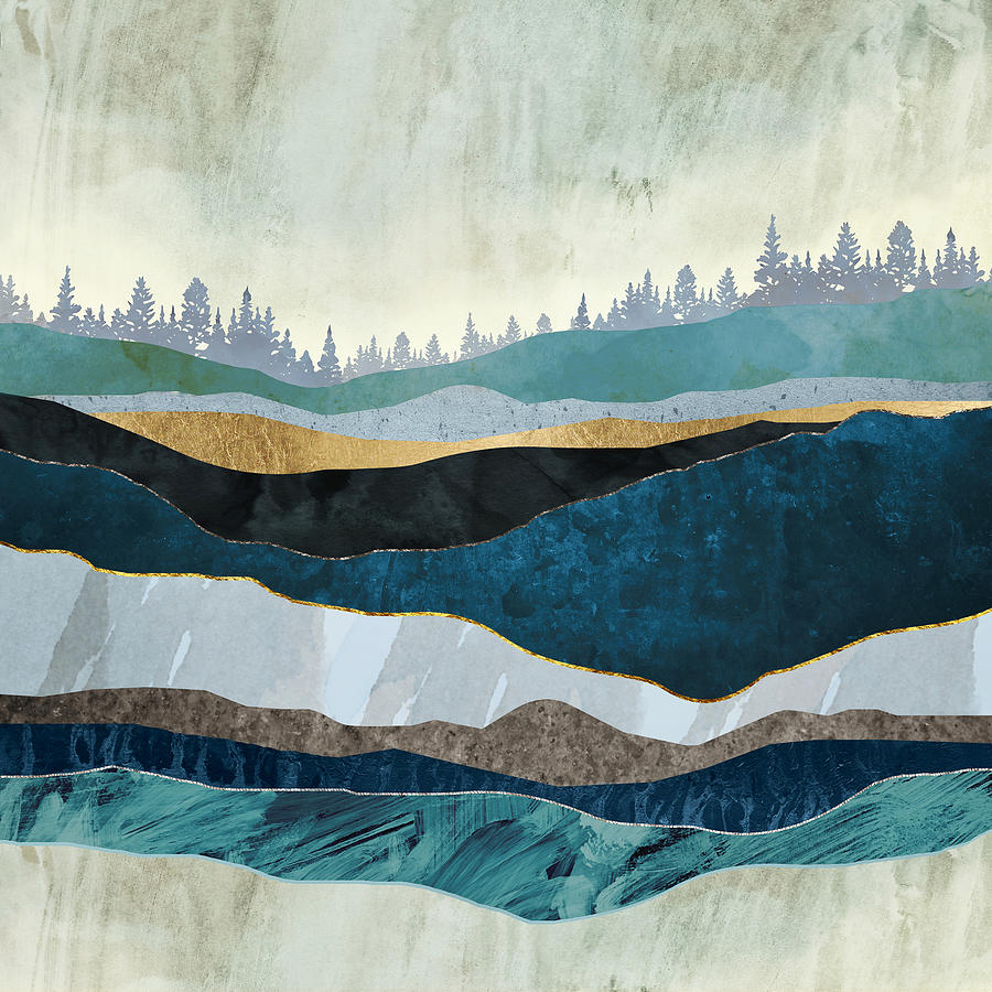 Turquoise Digital Art - Turquoise Hills by Spacefrog Designs
