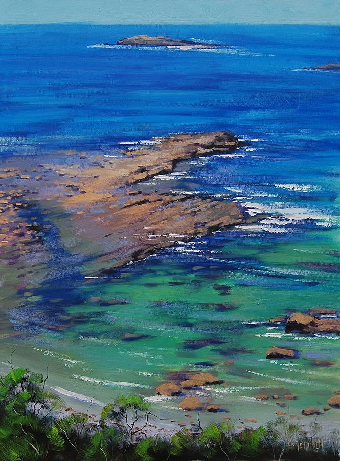 Turquoise Seascape Painting