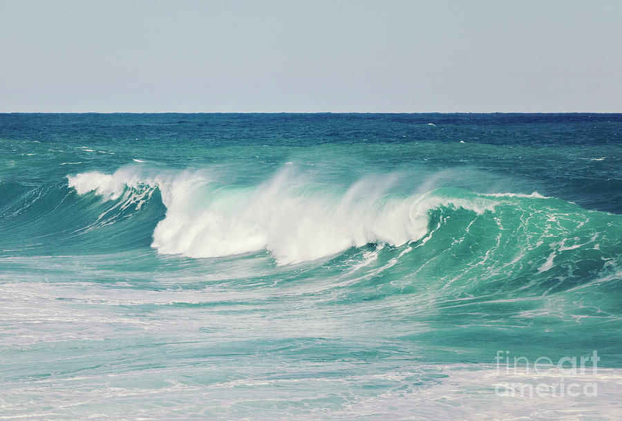 Turquoise Splashes Photograph