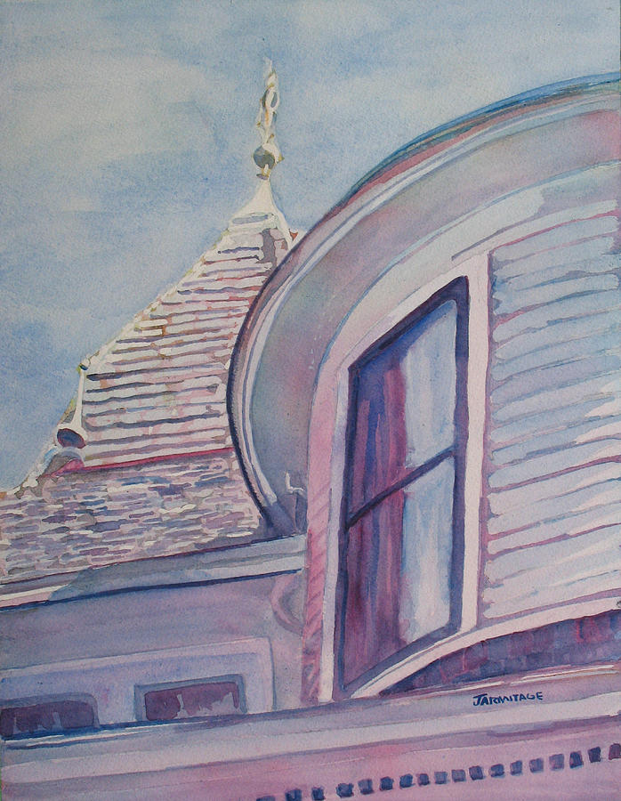 Turret Painting - Turret And Copula  by Jenny Armitage