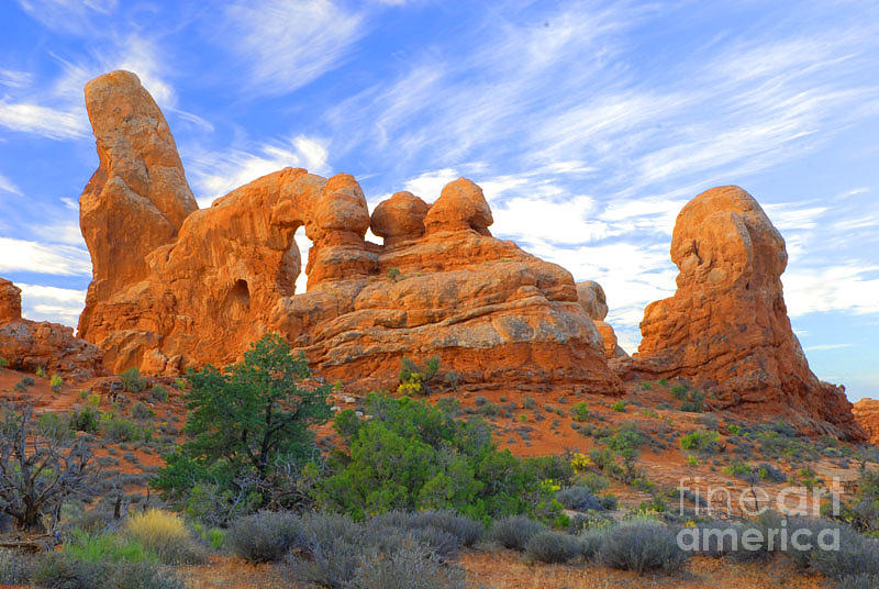 Arches Photograph - Turret Arch by Dennis Hammer