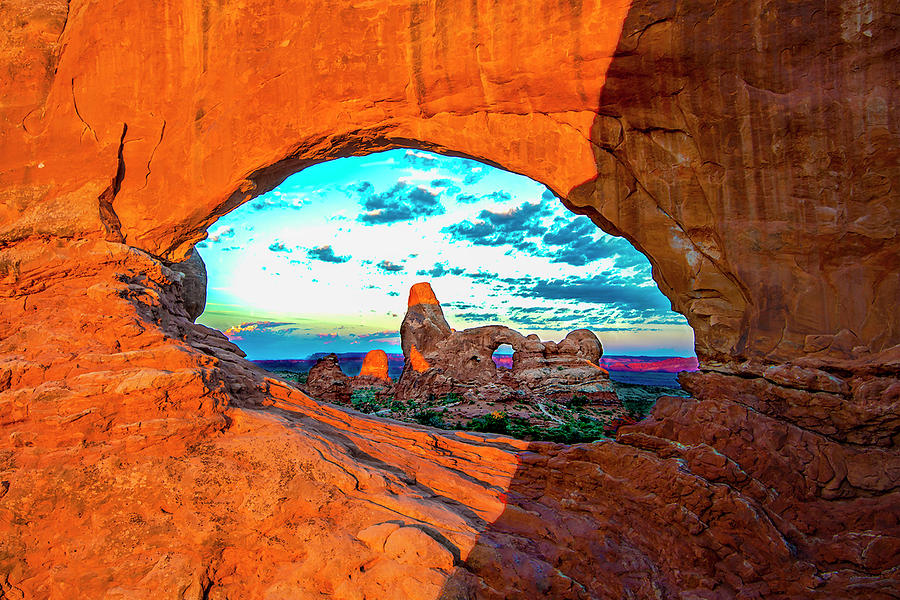Turret Arch Through Window by Norman Hall