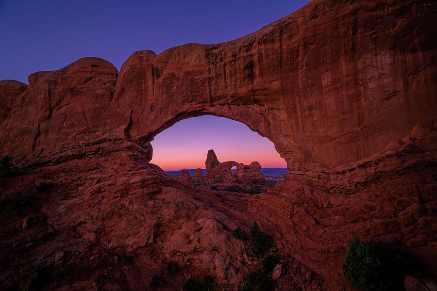 Acrilic Photograph - Turret Arche  by Edgars Erglis