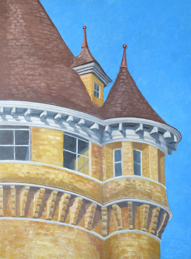 Turrets of Lawson Tower by Dominic White