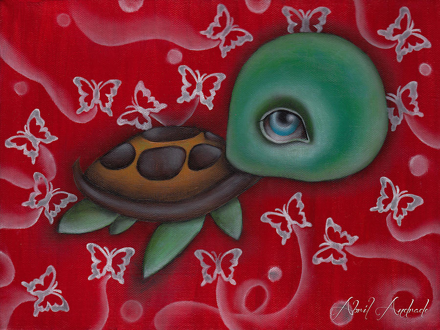 Animal Painting - Turtle by  Abril Andrade Griffith