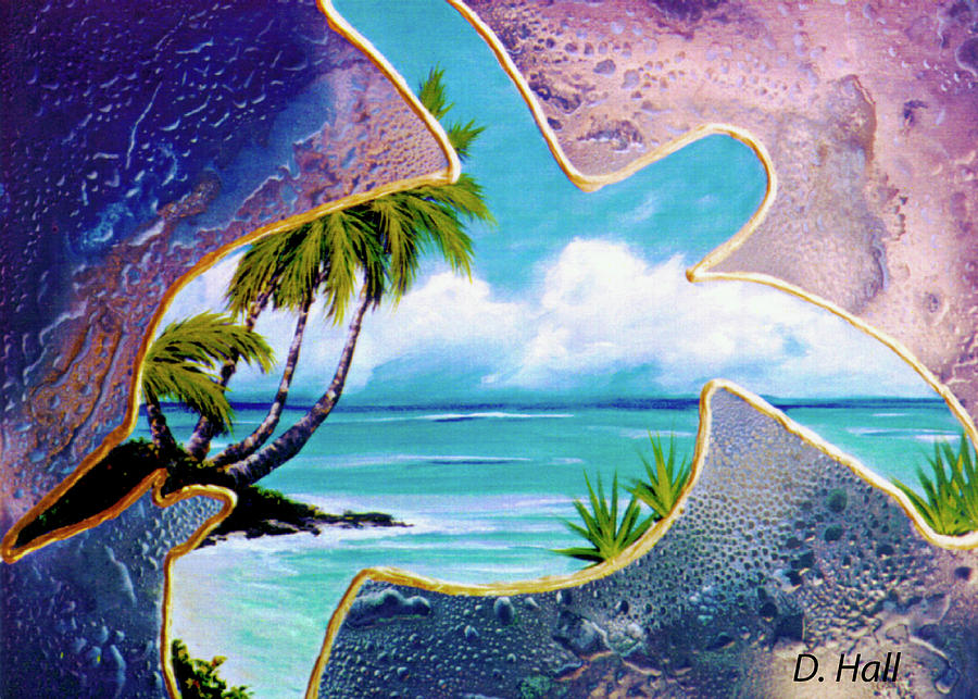 Honu Painting - Turtle Bay #144 by Donald k Hall