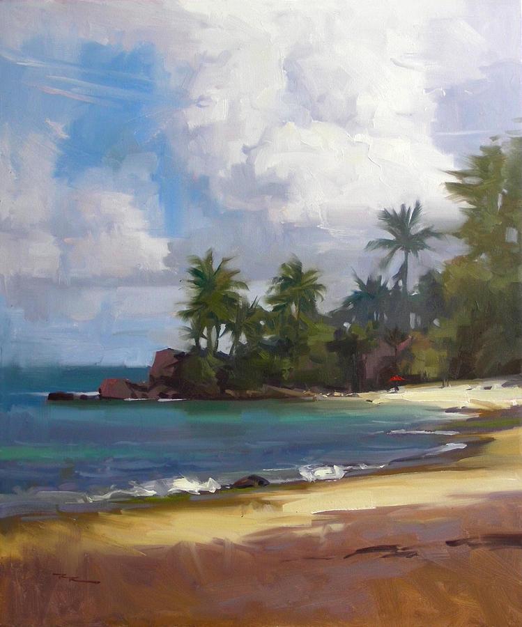 Hawaii Painting - Turtle Beach by Richard Robinson