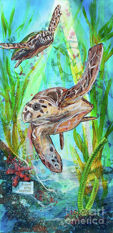 Seal Painting - Turtle Cove by TM Gand