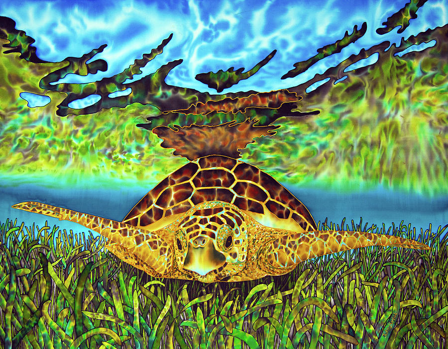 Abstract Painting - Turtle Grass by Daniel Jean-Baptiste
