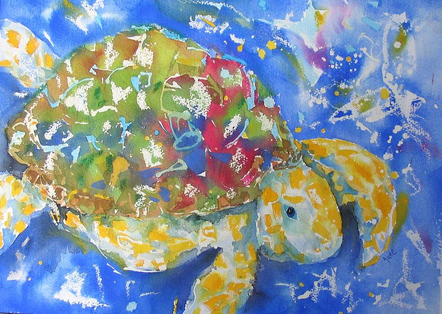 Turtle Painting - Turtle by June OConnell