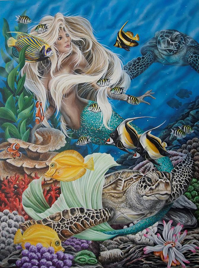 Turtle Mermaid by Katie McConnachie