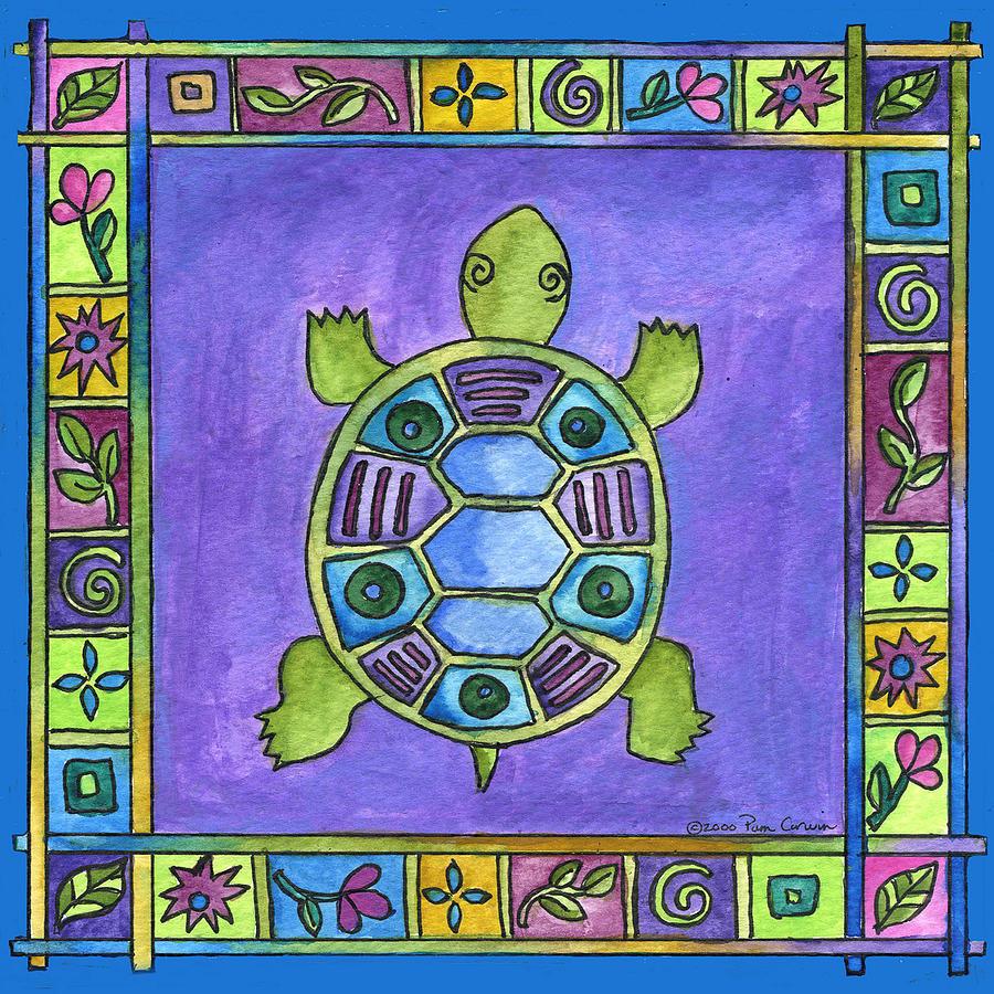 Turtle Painting - Turtle by Pamela  Corwin