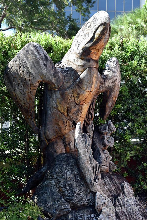 Sculpture Photograph - Turtle Sculpture by William Tasker