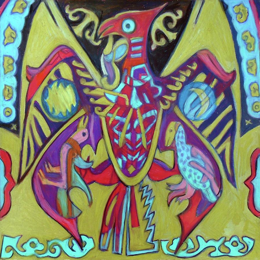 Hawk Painting - Turul by Denise Weaver Ross