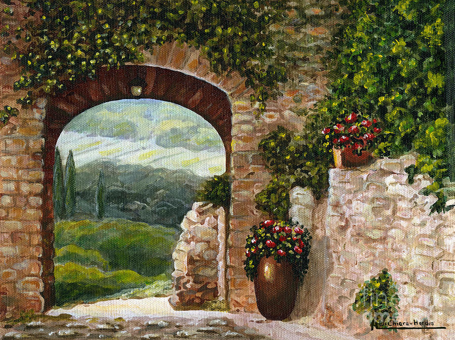 Angelica Dichiara Painting - Tuscan Arch by Italian Art