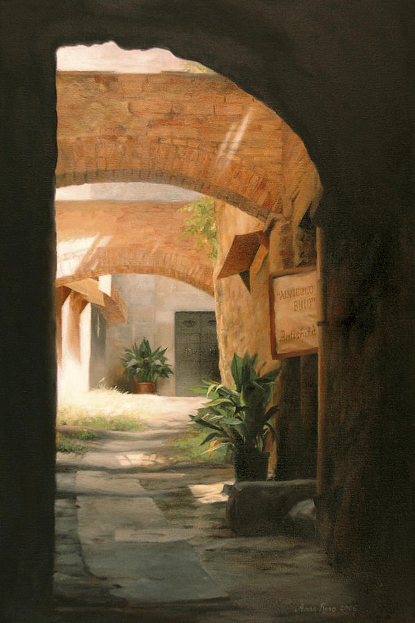 Tuscany Painting - Tuscan Arches by Anna Rose Bain