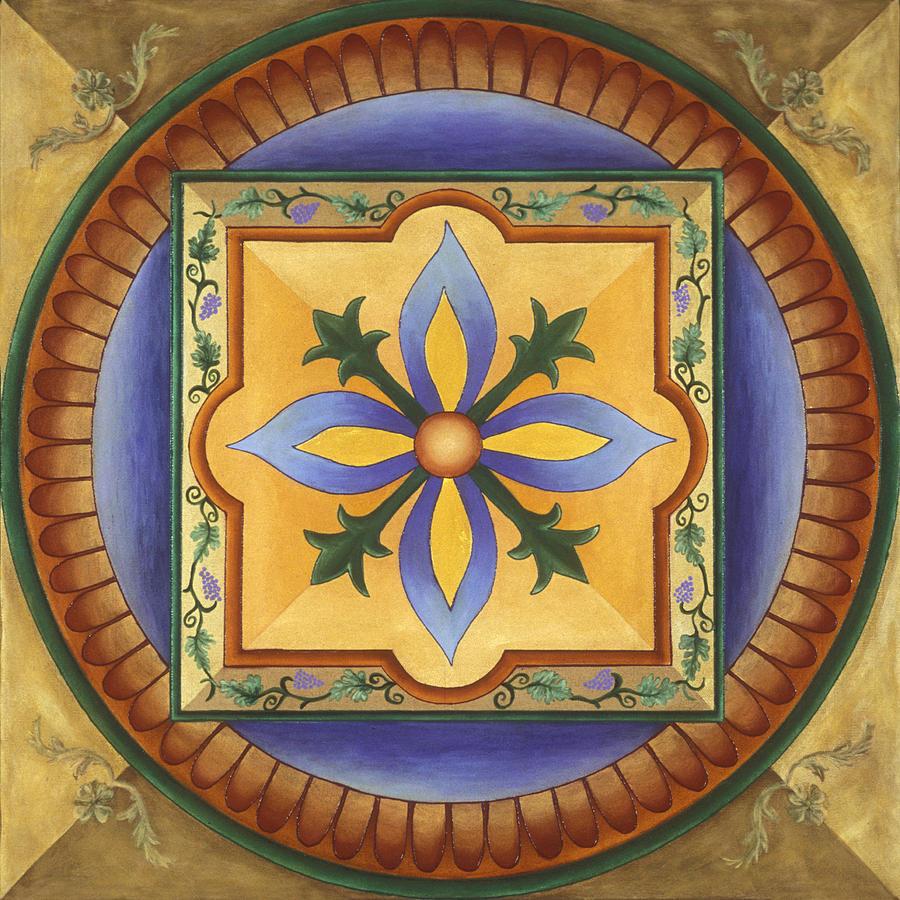 Mandala Painting - Tuscan Autumn by Charlotte Backman