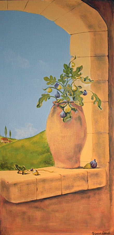 Italy Painting - Tuscan Figs by Yvonne Ayoub