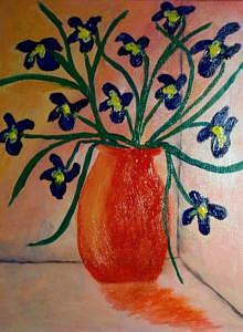 Tuscan Flower Vase Painting by Vicky D