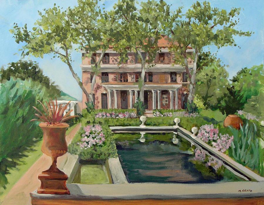 Tuscan Garden, Snug Harbor, S.i. Painting by Mafalda Cento