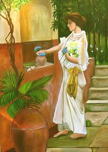 Figure Painting - Tuscan Goddess by Glynnis Sorrentino