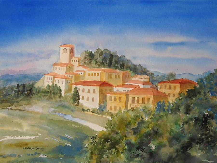 Tuscany Painting - Tuscan Hilltop Village by Marilyn Young