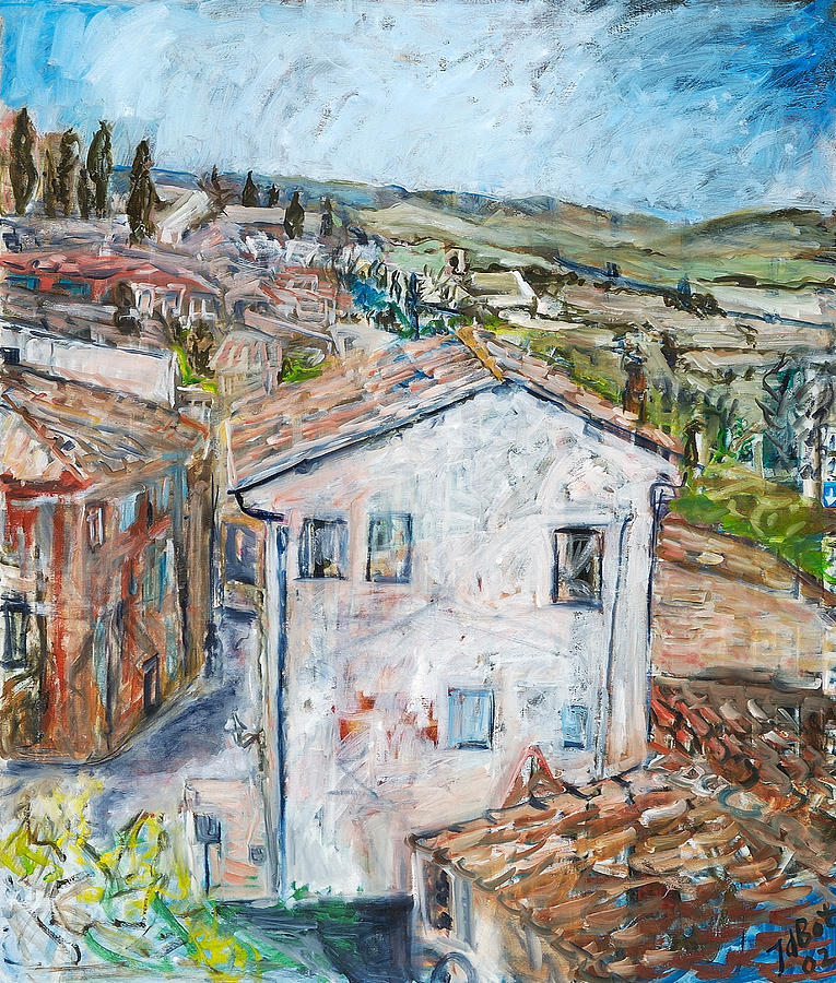 Tuscan House Painting by Joan De Bot