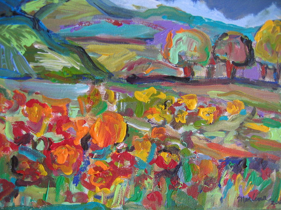 Landscape Painting - Tuscan Landscape by Marlene Robbins