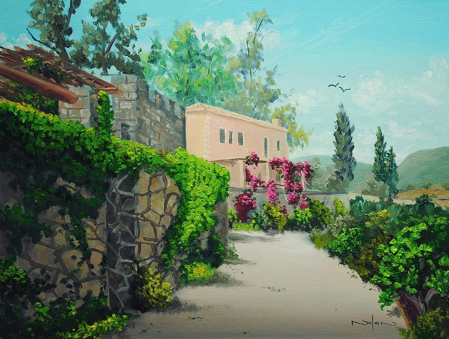 Oil Painting - Tuscan Landscape by Nolan Clark