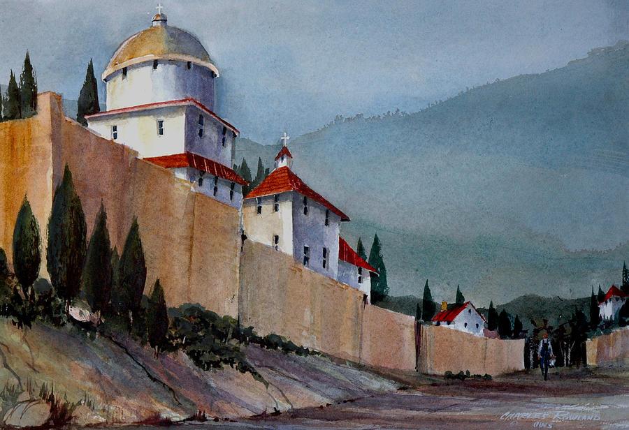 Tuscan Painting - Tuscan Lane by Charles Rowland
