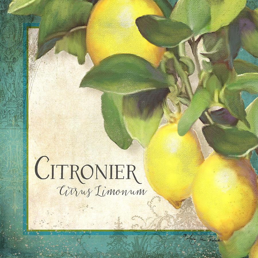 Tuscan Lemon Tree Citronier Citrus Limonum Vintage Style