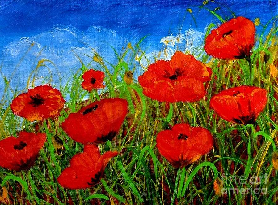 Tuscan Poppies Painting By Inna Montano