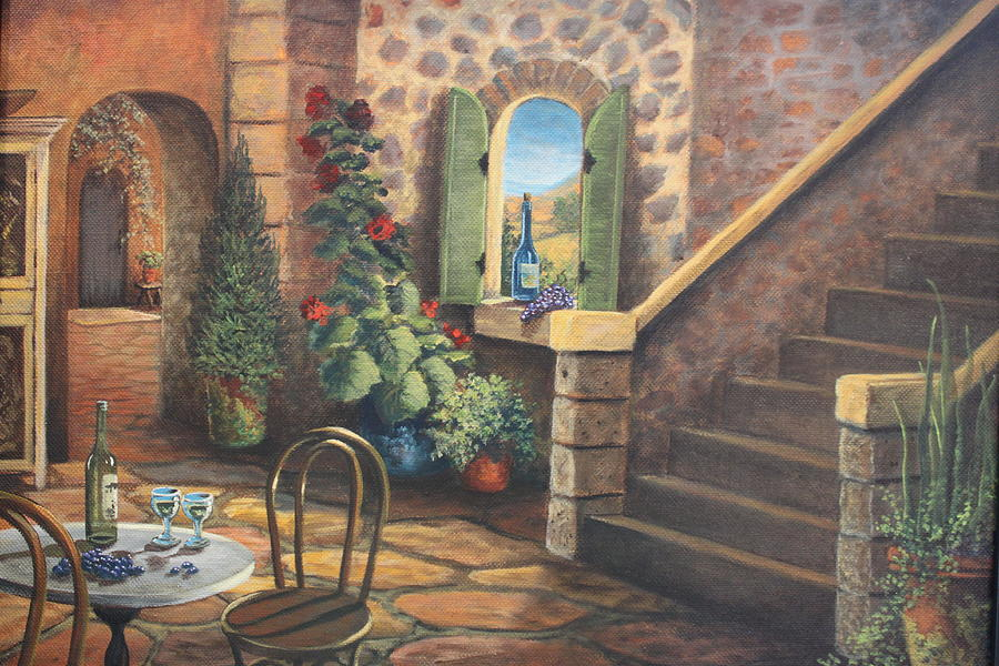Stairway Painting - Tuscan Retreat by Diana Miller