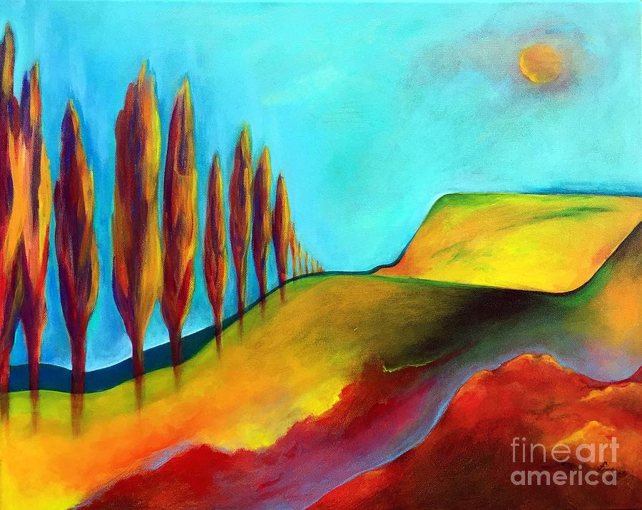 Landscape Painting - Tuscan Sentinels by Elizabeth Fontaine-Barr