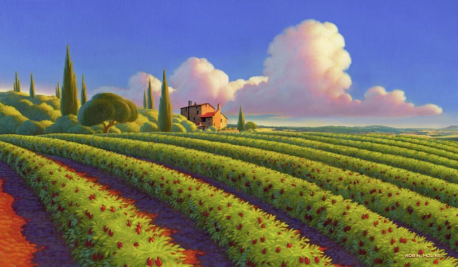 Tuscany Painting - Tuscan Summer by Robin Moline
