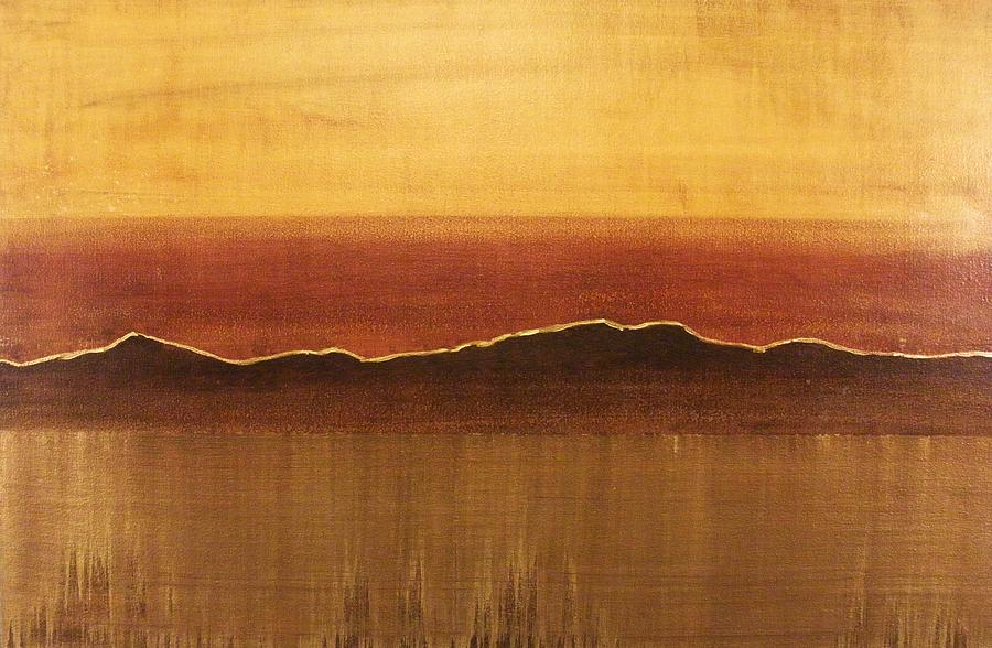 Orange Painting - Tuscan Sun by Justin  Strom