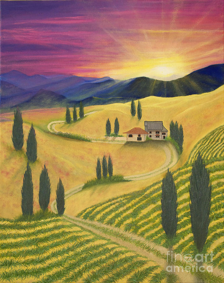 Tuscan Sunset B by Cindy Lee Longhini