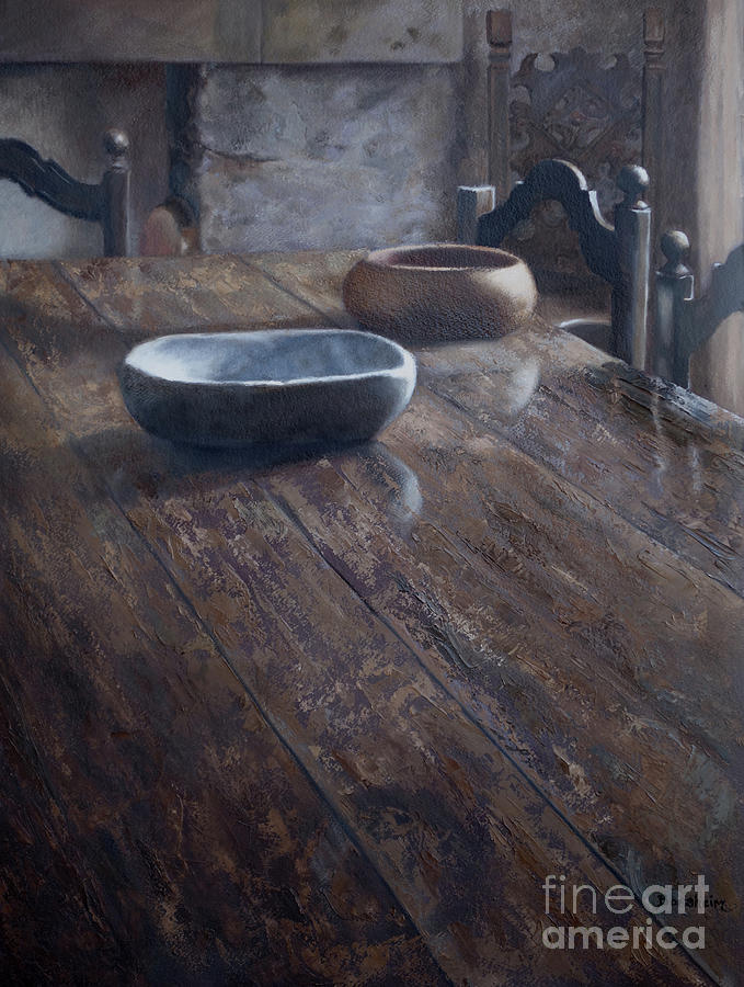 Tuscany Painting - Tuscan Table by Kelly Borsheim