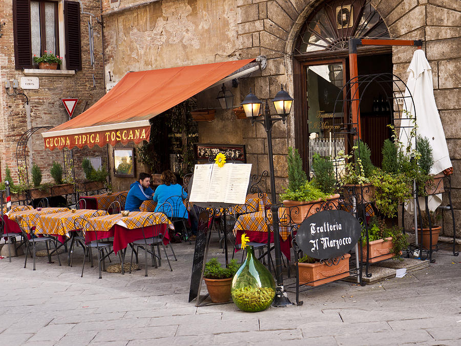 Montepulciano Photograph - Tuscan Trattoria by Rae Tucker