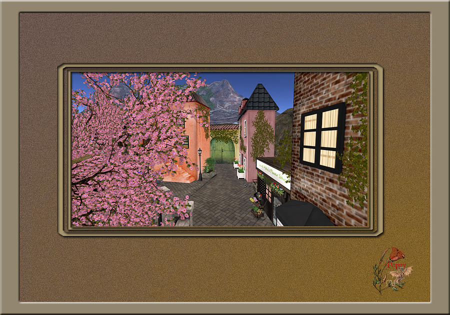 Tuscan Digital Art - Tuscan Village In Second Life by Patricia Whitaker